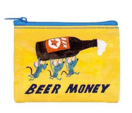Blue Q Coin Purse Beer Money