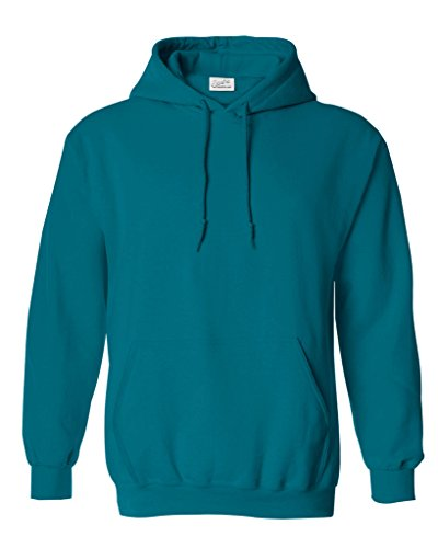 Joe's USA(tm) Hoodies Soft & Cozy Hooded Sweatshirt,Large-Teal