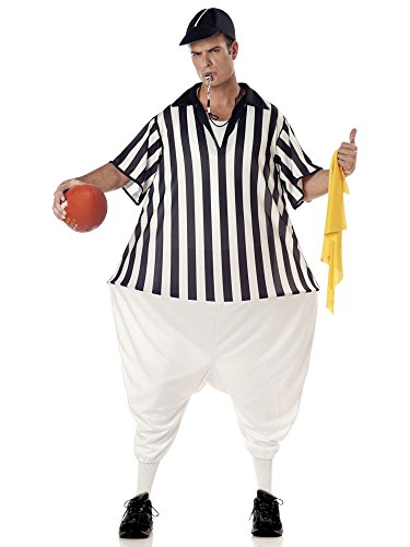 (California Costumes Men's Referee Costume, Black/White, One)