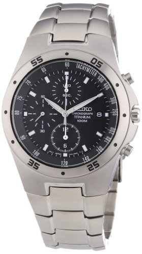 Seiko SE-SND419 Titanium Chronograph 100M WR Watch ()