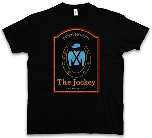 THE JOCKEY I T-SHIRT – Shameless Bar Restaurant UK Alibi Pub Frank Room Gallagher Bar David Ian Paul Chatsworth Estate Abbott Threlfall Tamaños S – 5XL