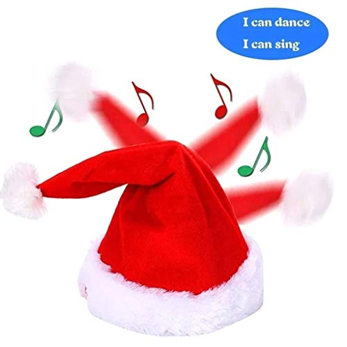 Nesee Funny Musical Christmas Hat Singing and Dancing Funny Hat Children's Christmas Hat Plush Toy (Bring Out The Best In Your Child And Yourself)