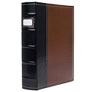 Bellagio-Italia 3 Ring Binder 1 Inch Rings, Brown - Faux Leather Presentation Binder for Business, Resumes, File Storage - 1 Inch Binder Stores up to 225 Sheets, Brown 1-Pack (30305)