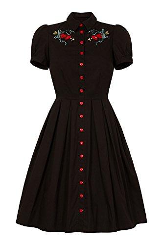 Hemdkleid Hell Kleid Damen Schwarz Dress Tattoo Bunny qPrHWxwPzt