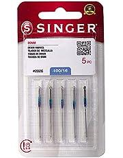 SINGER 2026 Denim Machine Needles, Size 100/16 - 5-Pack