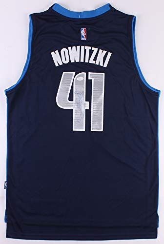 Dirk Nowitzki Signed Dallas Mavericks Blue Alternate Adidas Jersey JSA