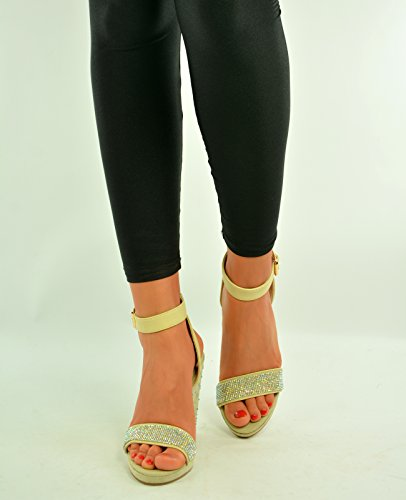Tacón Mujer De Cucu Fashion Zapatos Beige wxHnCa