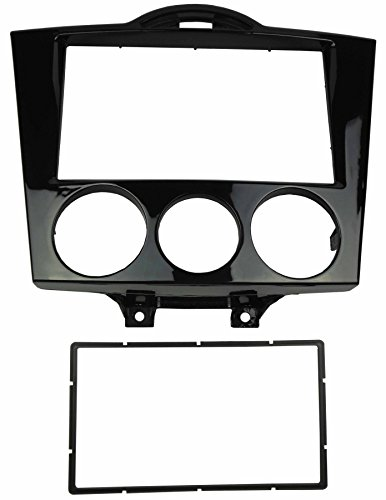 DKMUS Double Din Radio Stereo Dash Installation Mount Trim Kit for Mazda Rx-8 2004-2008 Fascia in Size 173*98mm or 178*102mm Gloss Black (Rx8 Mazda Dash)