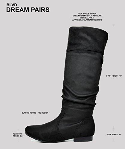 Knee Calf Women's DREAM BLVD Beltran Calf Boots PAIRS Taupe wide High Wide xAxTnIq