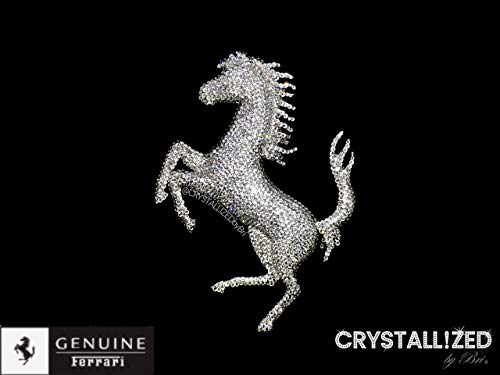 Swarovski CRYSTALLIZED Emblem for FERRARI Front Rear Grille Trunk Horse Badge Bling Crystals (Grille Horse)