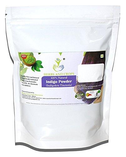 Herbs And Crops 100  Pure Natural Organically Grown Indigo Powder  For Hair  227G    1 2 Lb    8 Ounces