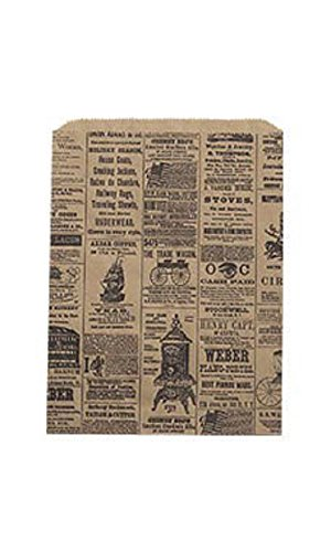 Medium Newsprint Paper Merchandise Bags - Case of 1,000 by STORE001