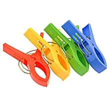 4PCS Large Heavy Duty Plastic Clothes Pins Spring Clamps Clothes Pegs Pins Clothes Line Clips