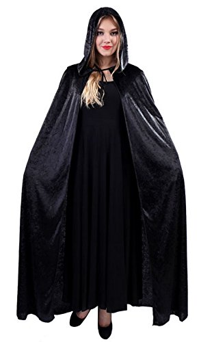 Adult Halloween Hooded Cloak Costumes Women Ghost Death Cape Cosplay Long Robe (Spirt Halloween Costume)