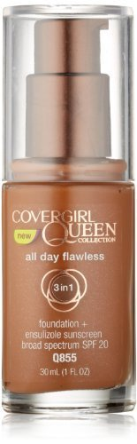 COVERGIRL Queen Collection All Day Flawless Foundation Spicy Brown Q855, 1 Oz by CoverGirl