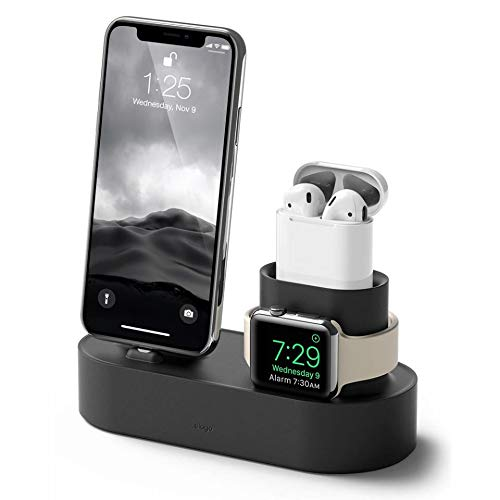 elago 3 in 1 Charging Dock for iPhone X, 8, 8 Plus, 7, 7 Plus, and More; Apple AirPods 2 2019 Version; All Series Apple…
