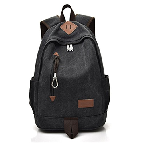 Large Grey Men Rucksack Unisex Girls Teenagers School For Backpacks Laptop Bags Backbag Black Travel Canvas Boys 6S6HnTx