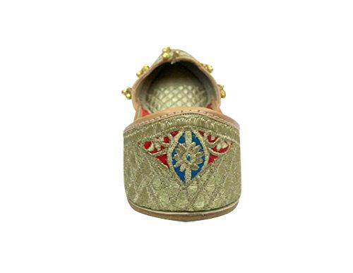Steg N Stil Damer Traditionell Jooti Etniska Pakistani Zari Jutti Vida Byxor Sko
