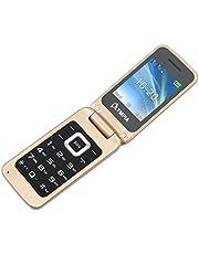 OLYMPIA Luna - Seniorentelefoon - Goud ✓ Grote toetsen ✓ Noodoproepknop ✓ Opvouwbare mobiele telefoon met grote toetsen | Mobiele telefoon voor senioren / gepensioneerde gepensioneerde telefoon met toetsen