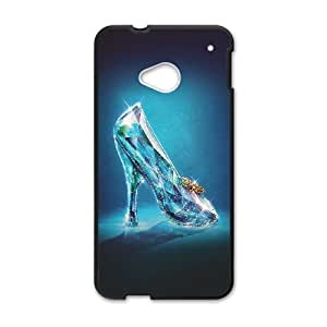 HTC One M7 Cell Phone Case Black_ac04 cinderella glass slipper shoes illust IB7883285
