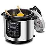 Zenchef 14-in-1 NEWEST 6 Qt Multifunctional Stainless Steel Electric Pressure Cooker 1000W w/LED Display Screen, Slow Cooker, Rice Cooker, Sauté, Steamer, Yogurt Maker & Food Warmer (Upgraded) Review