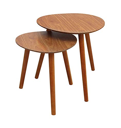Convenience Concepts Oslo Nesting End Tables, Cherry Cherry Finish Nesting Tables
