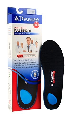 - Powerstep® ProTech Full Length Men's 6-6 1/2, Women's 8-8 1/2