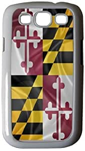 Nice Maryland State Flag - White Hard Rubber TPU Case Cover for Samsung? Galaxy i9300 Galaxy S3 by ruishername