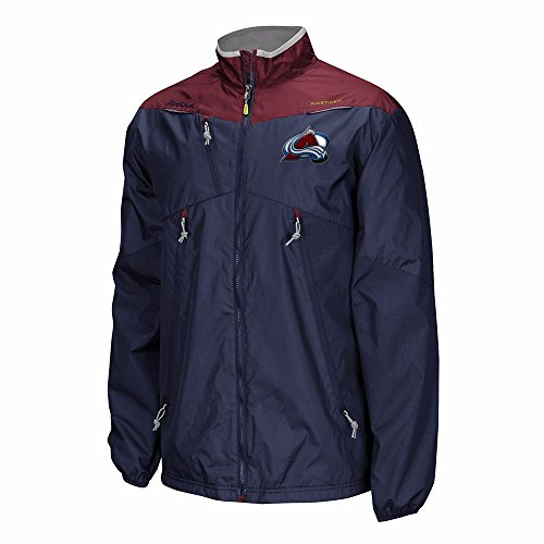Reebok Colorado Avalanche NHL Navy Blue Authentic Center Ice Rink Full Zip Performance Jacket For Men (3XL)