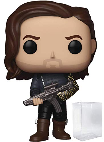 Funko Pop! Marvel: Avengers Infinity War - Bucky Barnes with Weapon Vinyl Figure (Includes Pop Box Protector Case) ()