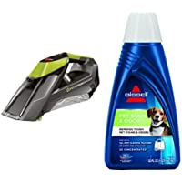 Bissell Pet Stain Eraser Cordless Portable Carpet Cleaner & BISSELL 2X Pet Stain & Odor Portable Machine Formula, 32 ounces, 74R7