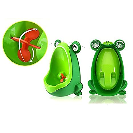 Green VIPMOON Boys Baby Urinal Perfect Cute Frog Training Potty for Boys with Funny Aiming Target