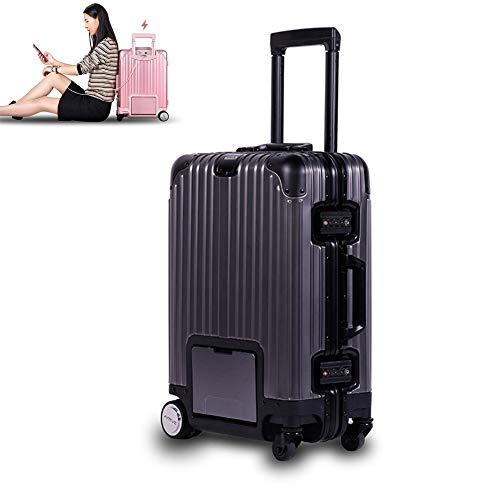 TBDLG Smart Riding Scooter Suitcase, 20-inch Electric Riding Suitcase, Intelligent Remote Control Follow Trolley Luggage…