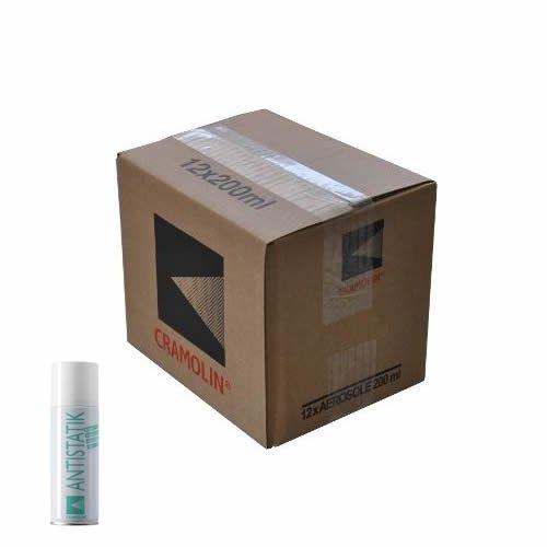 ANTISTATIK - VPE: 12 x 200ml Spraydose - Antistatikspray verhindert statische Aufladung - ITW Cramolin - 1331411 - verringert Schmutzanziehung