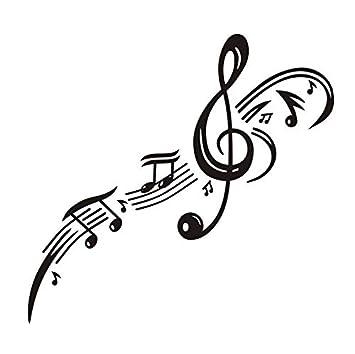 Zybnb Clave De Sol Nota Musical Pegatinas De Pared Decoración Para ...