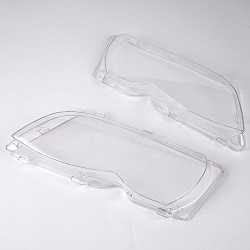(NEW 2pcs Headlamp Replacement For 2002-2005 BMW E46 3-series 320i/325i/325xi/330i/330xi 4DR 4Door Left and Right Headlight Clear Lens Cover)