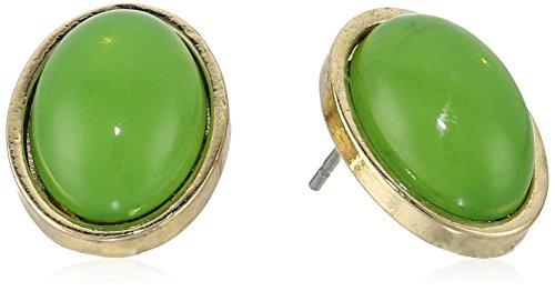 Cabochon Oval Earrings - 1