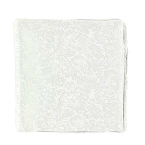 M & F Western Men's Silver Jacquard Silk Wild Rag Silver One Size