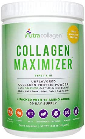 Collagen Peptides Powder - Collagen Protein and Collagen Powder for Grass-Fed Gluten Free Non-GMO Maximum Absorption and Double Hydrolyzed, Easy to Mix and Unflavored(30 Servings)
