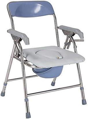 Wei Jun ベッドサイド便器椅子、ステンレススチール製折りたたみ老人ホームトイレバススツール、2つのスタイル /-/-/ (Color : Height adjustable)