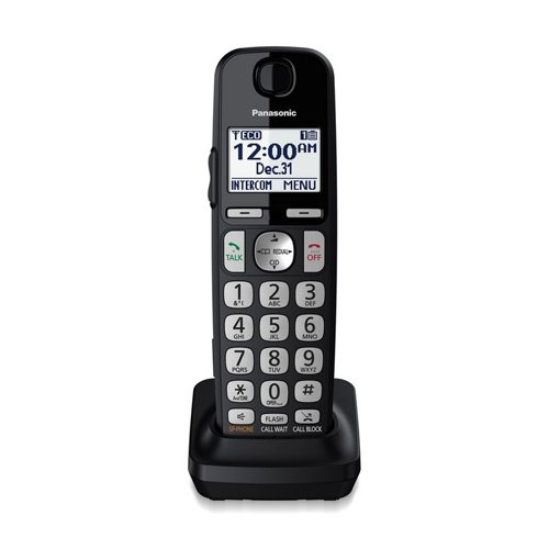 Panasonic Accessory Cordless Handset (KX-TGEA40B1) for Panasonic KX-TGE433B/KX-TGE445B Telephone Models (Renewed)