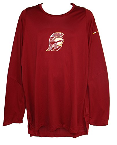 - Nike USC Trojans Adult 2X-Large 2XL Players Elite Long Sleeve Performance Dri Fit Shirt - Cardinal Red & Gold