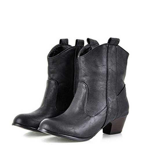 Nonbrand, Damen Stiefel & Stiefeletten Beige - schwarz