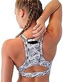 Best Yoga Clothes - Women Sport Bra Back Pocket Running Yoga Bras Review