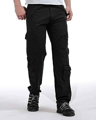 Noir Pantalon Militaire Homme Sports Style De Multi Poches Pantalons Cargo Combat Type Travail wAnf6EnqC7