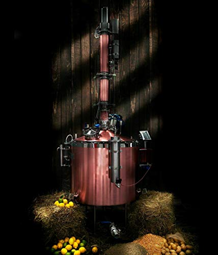 Distiller, Moonshine, distilation, Alcohol Distiller Distiller GENIO 500 Automated Distillation Column can be Used for Distilling Water, Gin, Rum, Whiskey, Vodka Production Rate 2.5L / h 0.7gal / h …