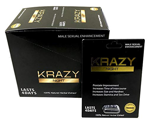 Krazy Night Black 24Pills in The Box Best Male Enhancing Natural Performance Capsules New Premierzen Most Effective Natural Amplifier for Performance, Energy, and Endurance