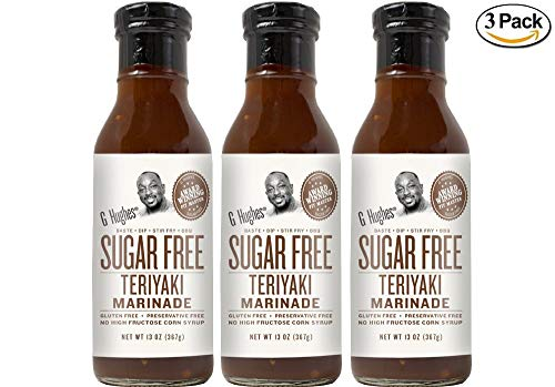 G Hughes Sugar Free Original Teriyaki Sauce 13 oz (3 Pack)