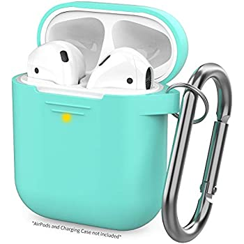 Amazon.com: AirPods Case Cover w/Keychain (Teal) + 3 Extra