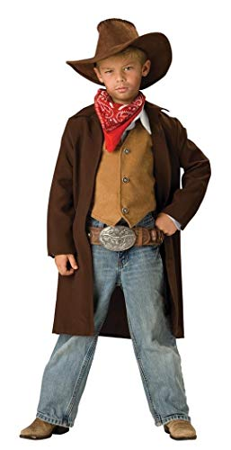 InCharacter Costumes, LLC Boys 2-7 Rawhide Renegade Duster Jacket Set, Brown, 6 -